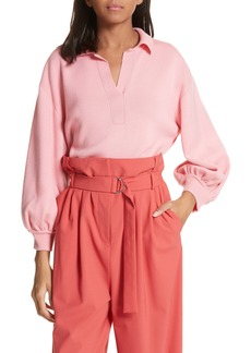 Tibi Merino Wool Bell Sleeve Sweater