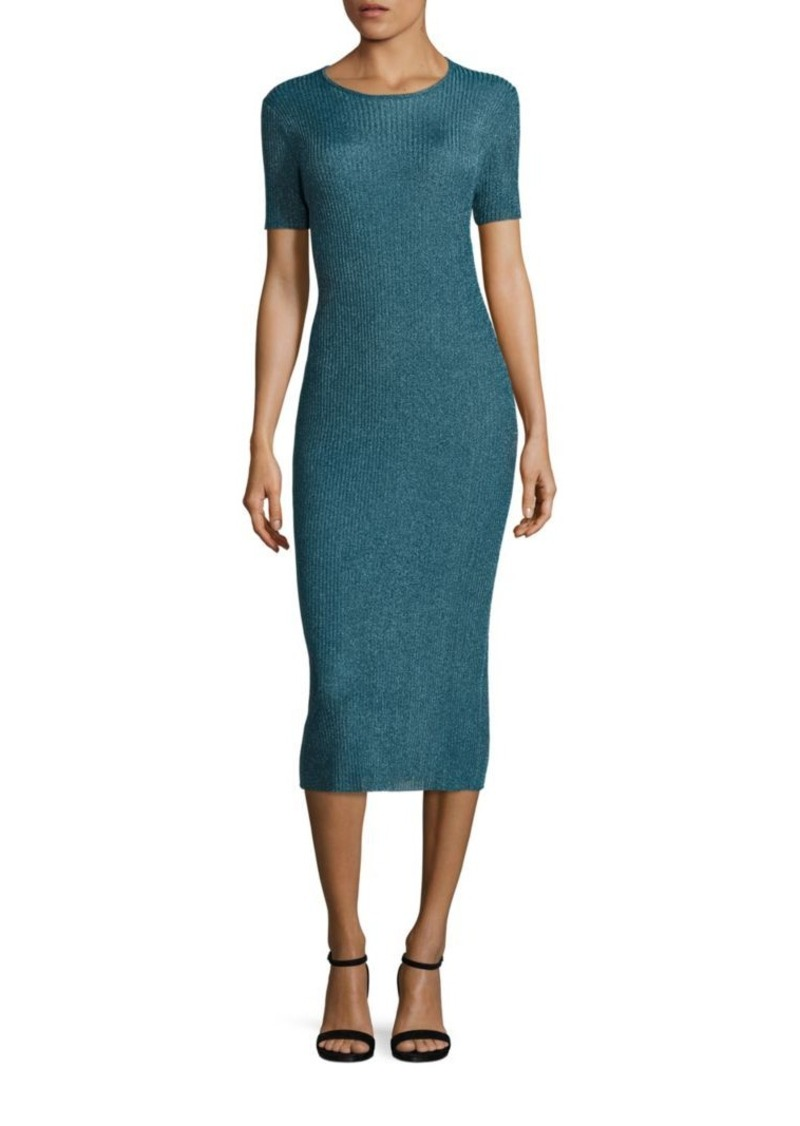 Tibi Metallic Viscose Dress