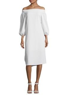 Tibi Minimalistic Off-Shoulder Dress