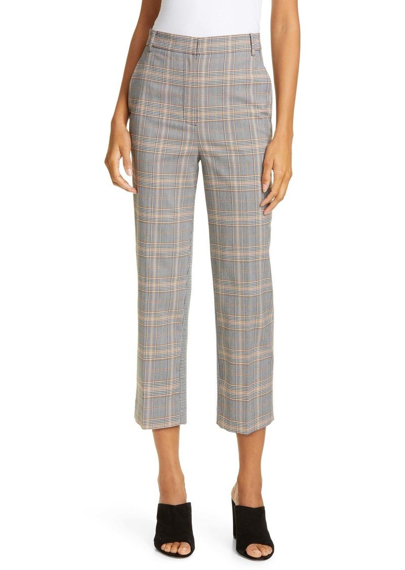 Tibi Mixed Check Crop Pants