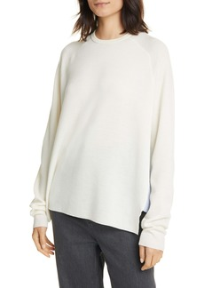 Tibi Mixed Media High/Low Sweater