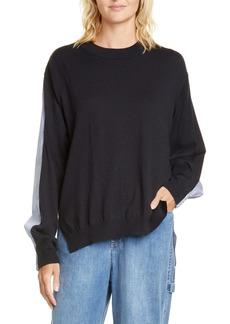 Tibi Mixed Media Sweater