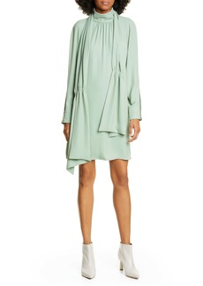 Tibi Modern Drape Long Sleeve Dress