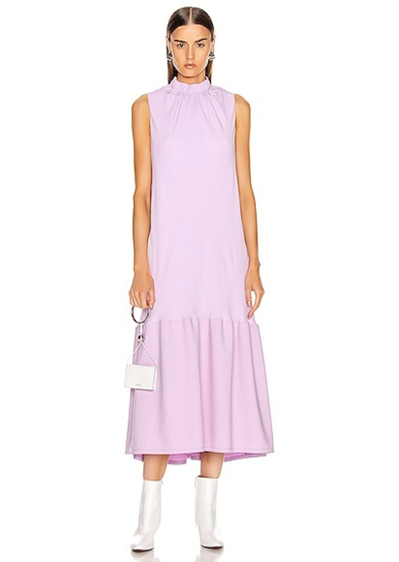 Tibi Modern Drape Sculpted Drape Long Dress