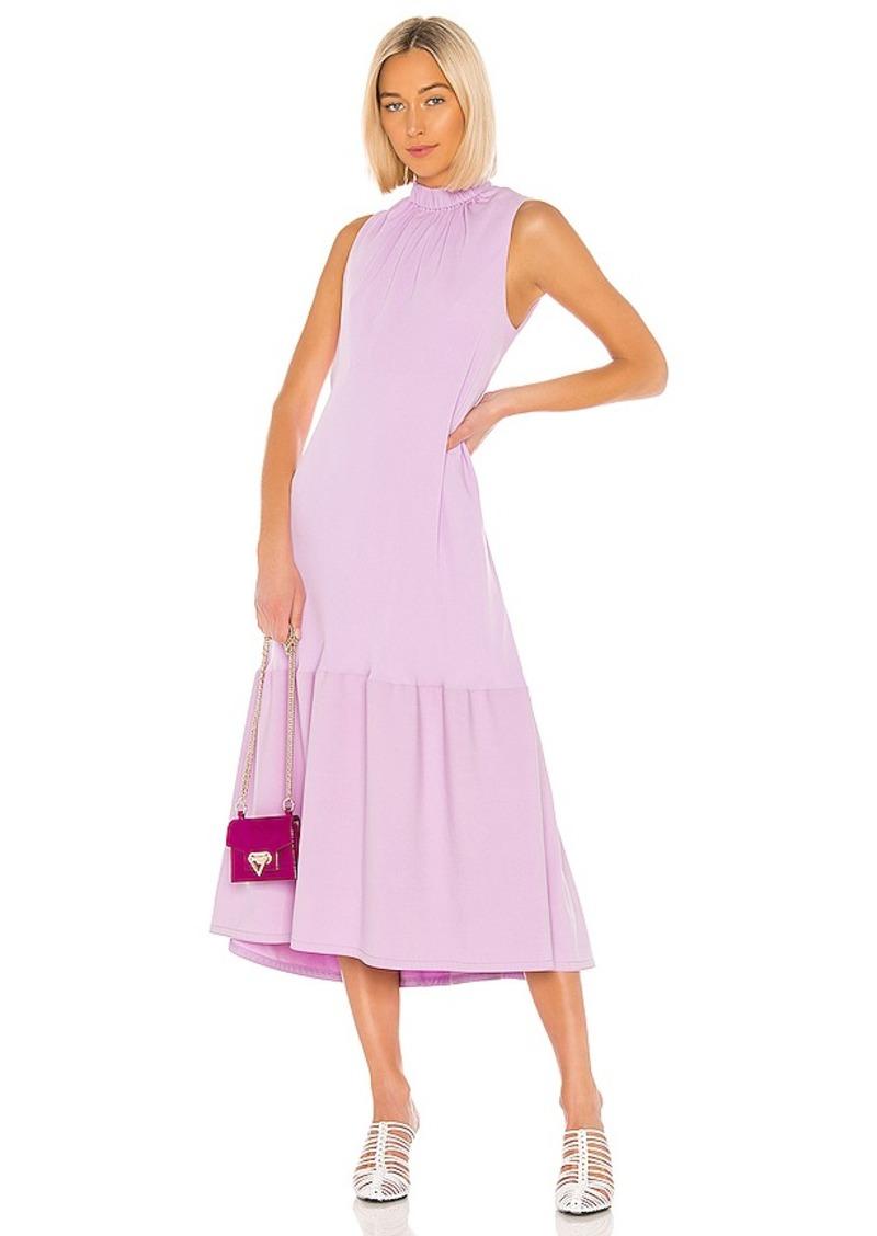 Tibi Modern Drape Sculpted Drape Midi Dress