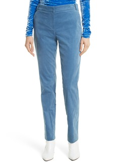 Tibi Moleskin Stretch Cotton Skinny Pants