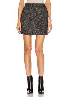 Tibi Multi Color Tweed High Waisted Mini Skirt