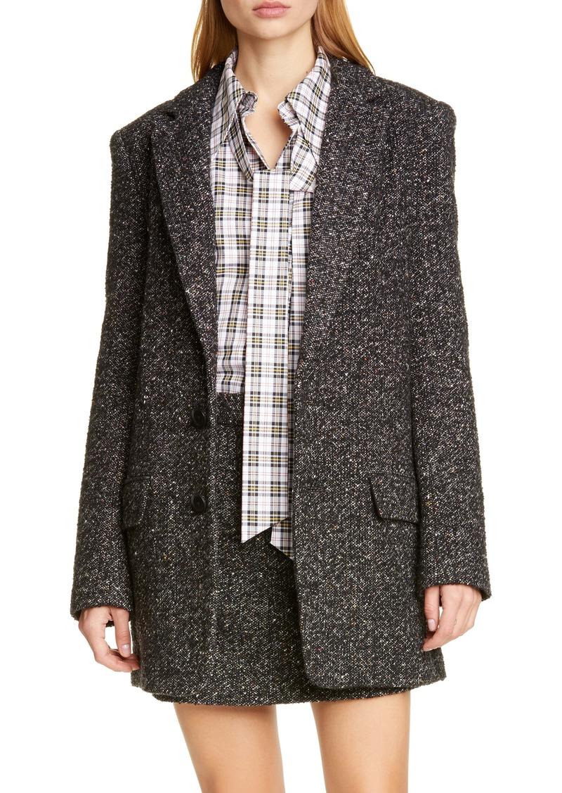 Tibi Multicolor Tweed Long Blazer