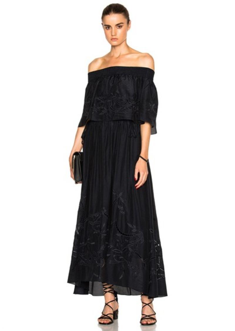 Tibi Off Shoulder Ruffle Dress
