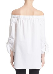 Tibi Off the Shoulder Cotton Tunic