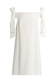 Tibi Off-the-shoulder crepe dress