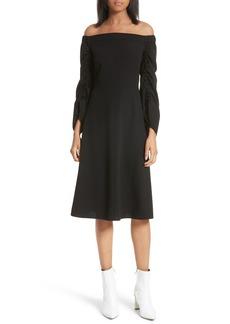 Tibi Off the Shoulder Midi Dress