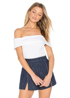 Tibi Off The Shoulder Top in White. - size 2 (also in 0,4)