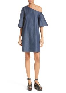 Tibi One-Shoulder Shift Dress