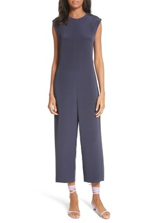 Tibi Open Back Four-Ply Silk Jumpsuit