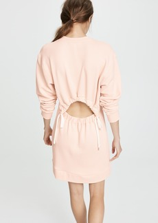 Tibi Open Back Sweatshirt Short Dress