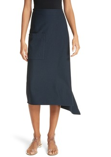 Tibi Origami Asymmetrical Stripe Skirt