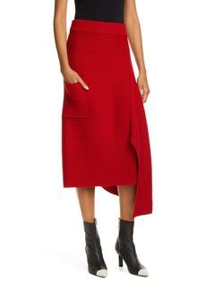 Tibi Origami Rib Merino Wool Sweater Skirt