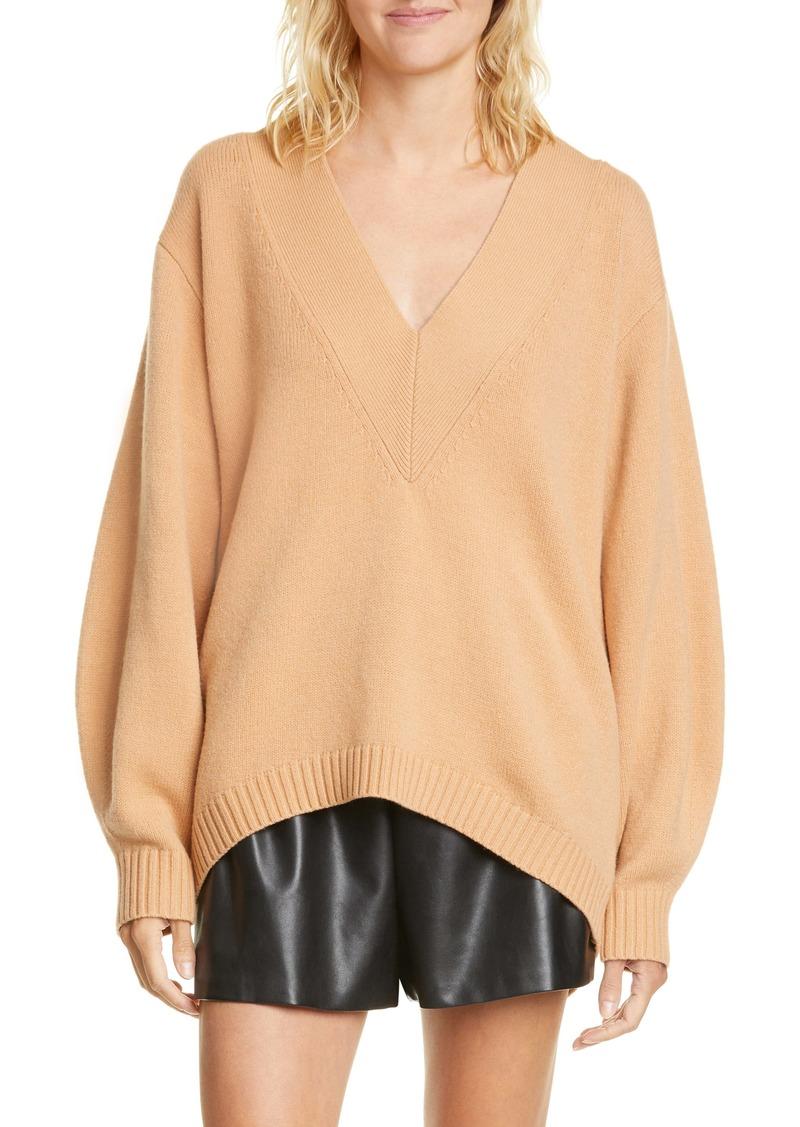 Tibi Oversize Merino Wool Blend High/Low Sweater