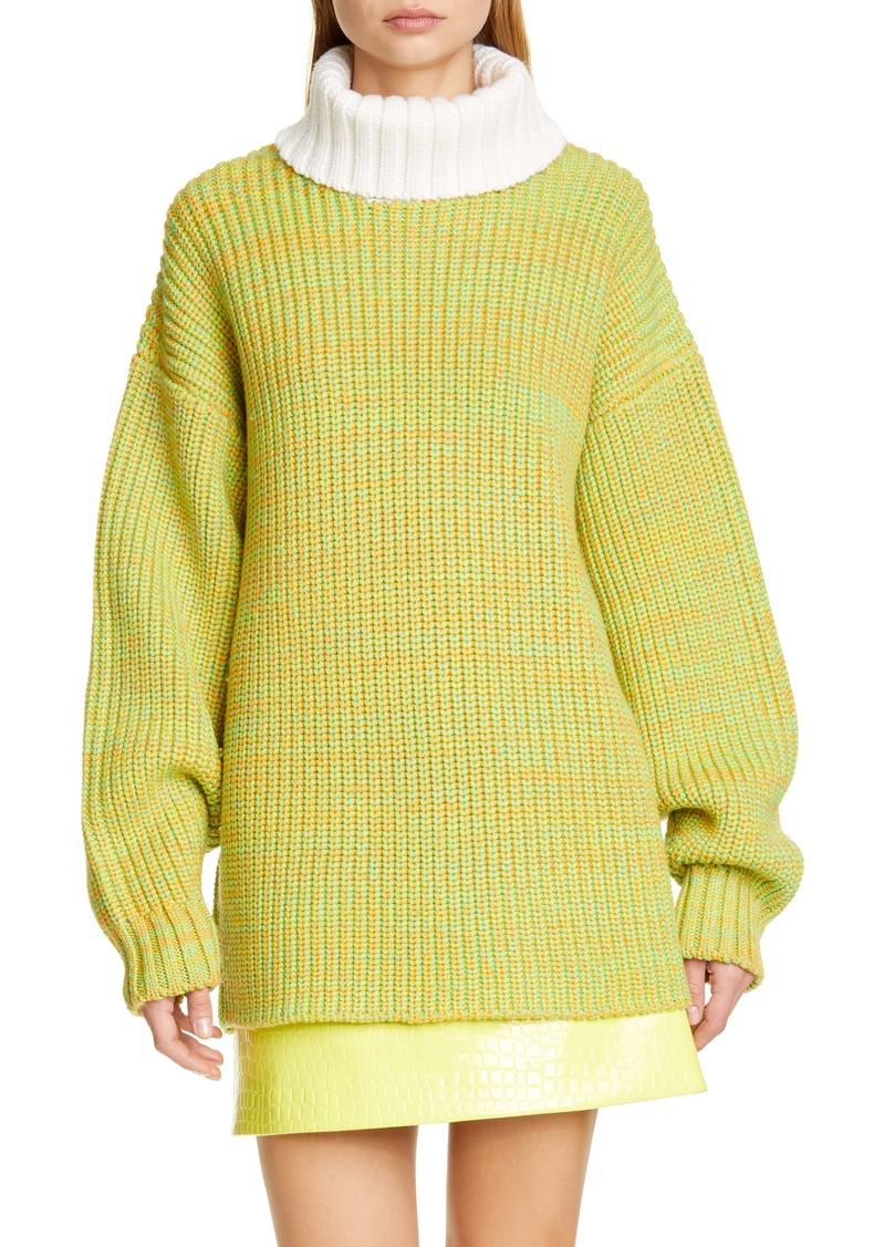 Tibi Oversize Tweedy Wool Sweater