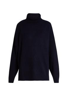 Tibi Oversized roll-neck cashmere-knit sweater