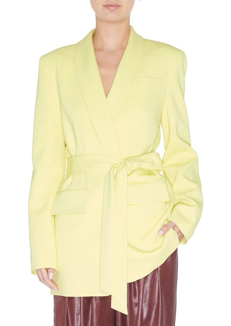 Tibi Oversized Tuxedo Blazer with Belt