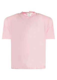 Tibi Padded-shoulder cotton-jersey T-shirt