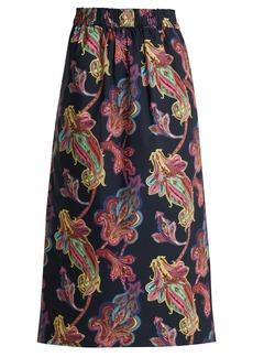 Tibi Paisley-print cotton skirt