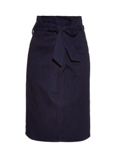 Tibi Paperbag-waist cotton skirt