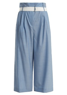 Tibi Paperbag wide-leg pleat trousers with belt