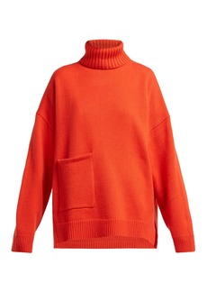 Tibi Patch pocket roll-neck cashmere sweater