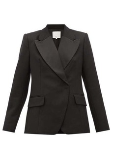 Tibi Peaked-lapel single-breasted wool blazer