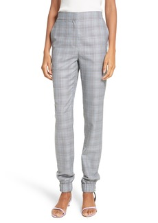 Tibi Plaid Jogger Pants