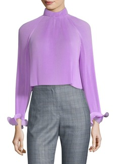 Tibi Pleat Crop Top