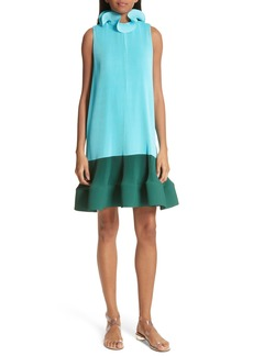 Tibi Pleating Sculptured Sleeveless Dress