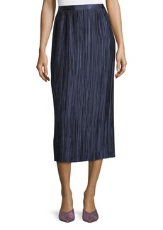 Tibi Plisse Pleated Midi Skirt