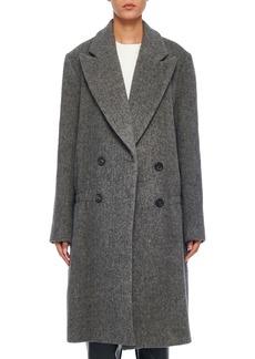 Tibi Plush Wool Dropped-Waist Long Coat