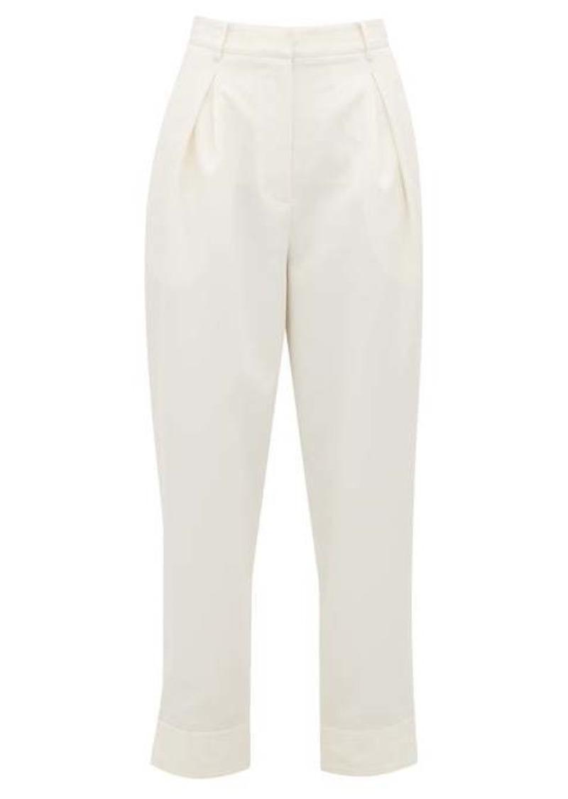 Tibi Press-stud cuff tailored trousers