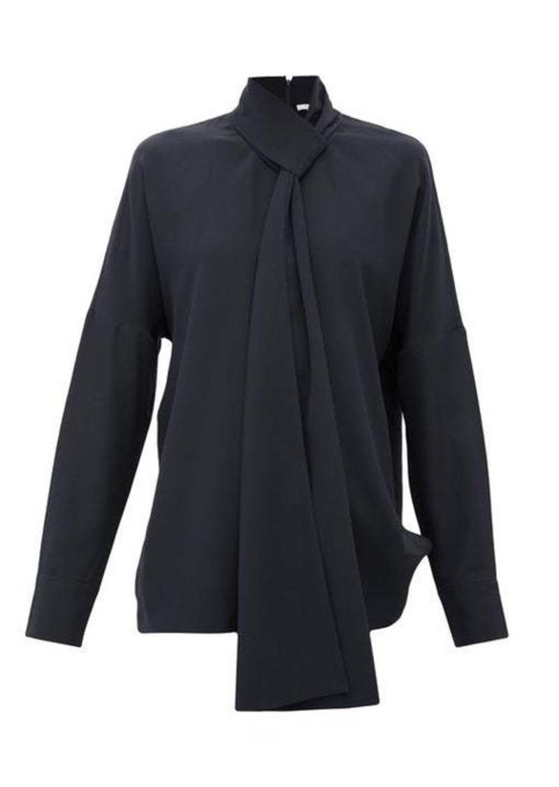 Tibi Pussy-bow silk crepe-de-Chine blouse
