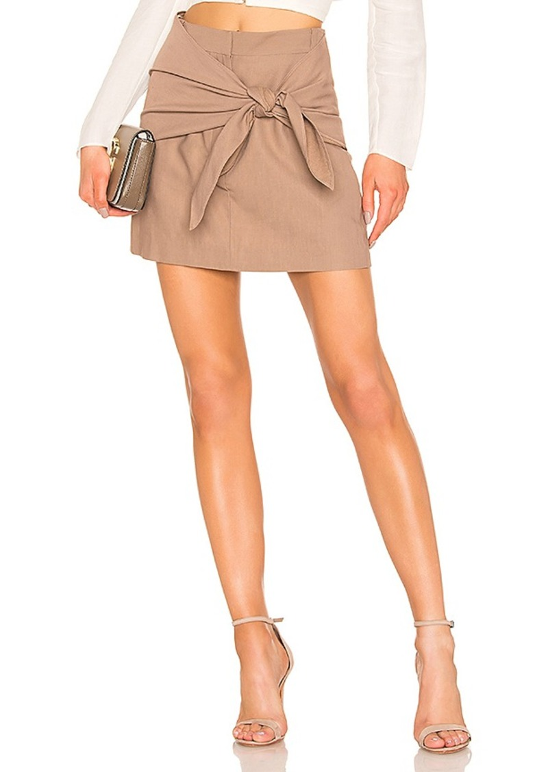 Tibi Removable Tie Mini Skirt