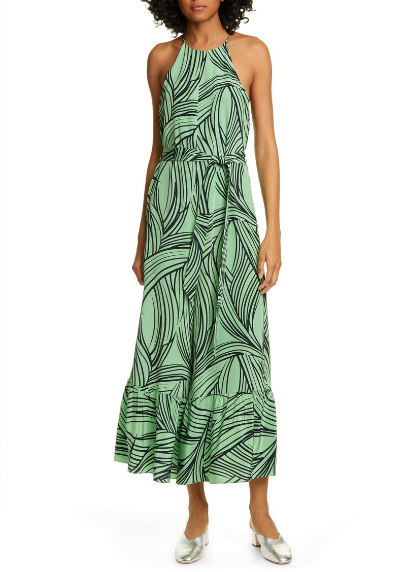 Tibi Ruffle Silk Culotte Jumpsuit (Nordstrom Exclusive)