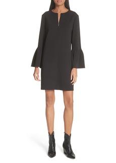 Tibi Ruffle Sleeve Crepe Shift Dress