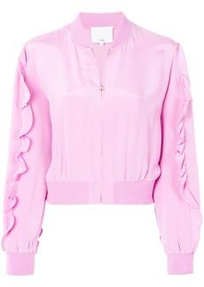 Tibi ruffled bomber jacket - Pink & Purple