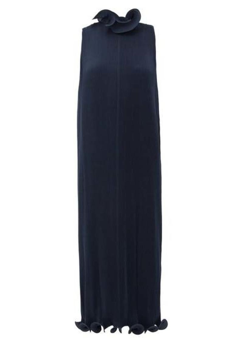 Tibi Ruffled plissé midi dress