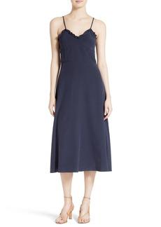 Tibi Ruffled Silk Midi Dress