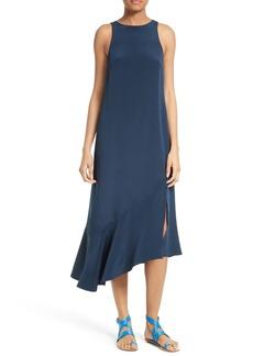 Tibi Ruffled Silk Shift Dress