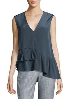 Tibi Ruffled Silk Top