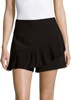 Tibi Ruffled Zippered Shorts