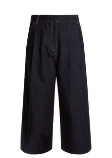Tibi Sam wide-leg cropped jeans