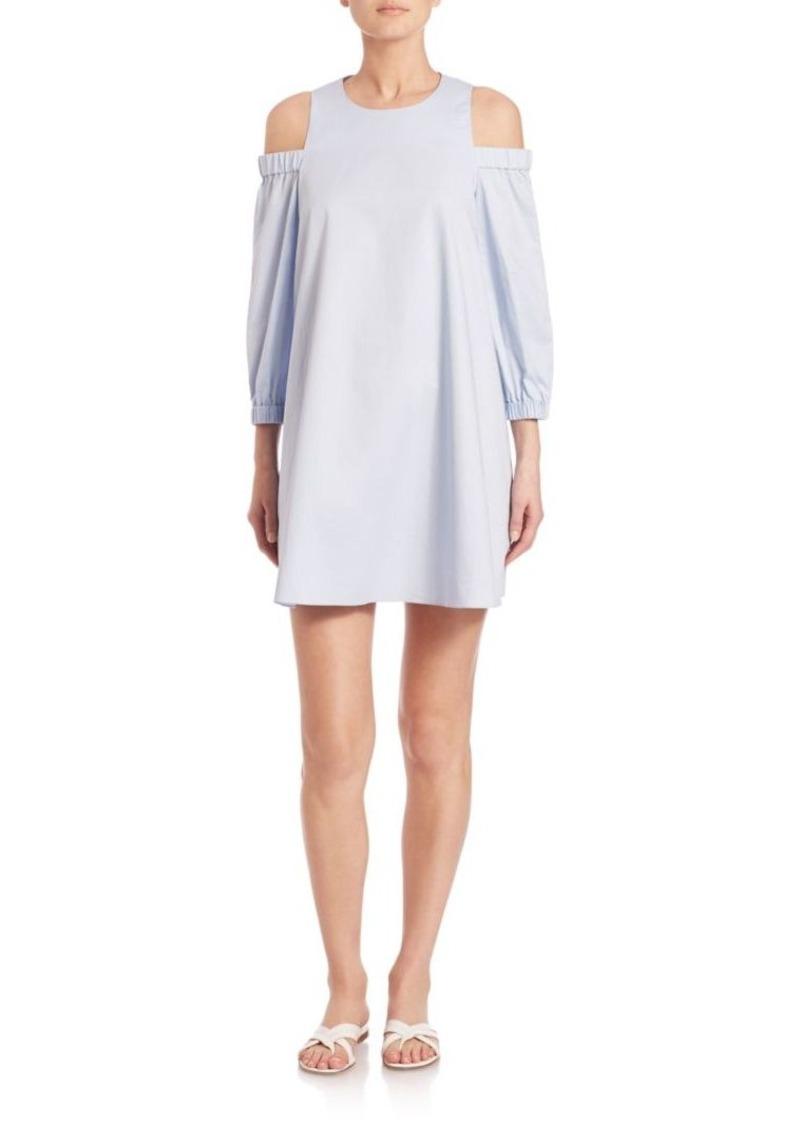 Tibi Satin Poplin Cutout Dress